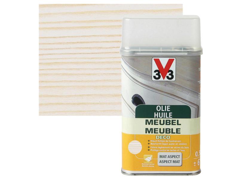 V33 huile meuble déco mat 0,5l blanc