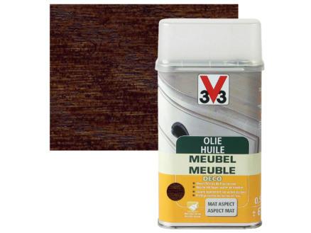 V33 huile meuble déco mat 0,5l ébène