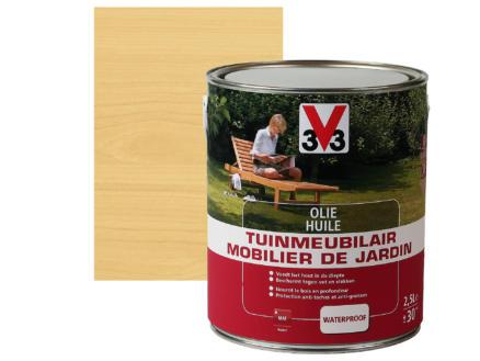 V33 huile mobilier bois de jardin mat 2,5l incolore