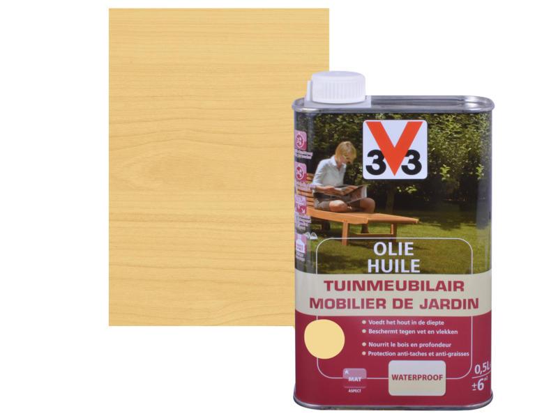 V33 huile mobilier de jardin mat 0,5l incolore