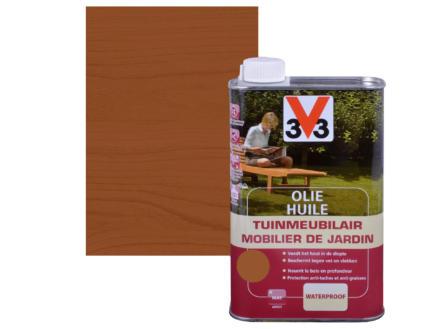 V33 huile mobilier de jardin mat 1l teck