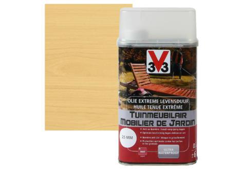V33 huile mobilier de jardin tenue extrème mat 0,5l incolore