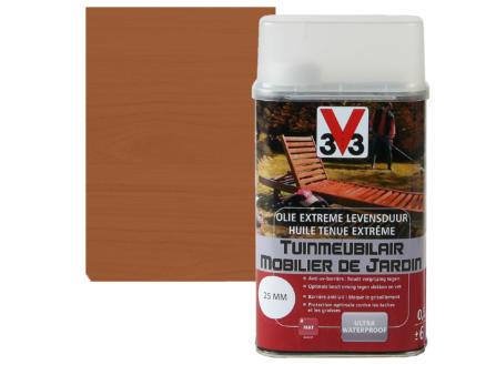 V33 huile mobilier de jardin tenue extrème mat 0,5l teck
