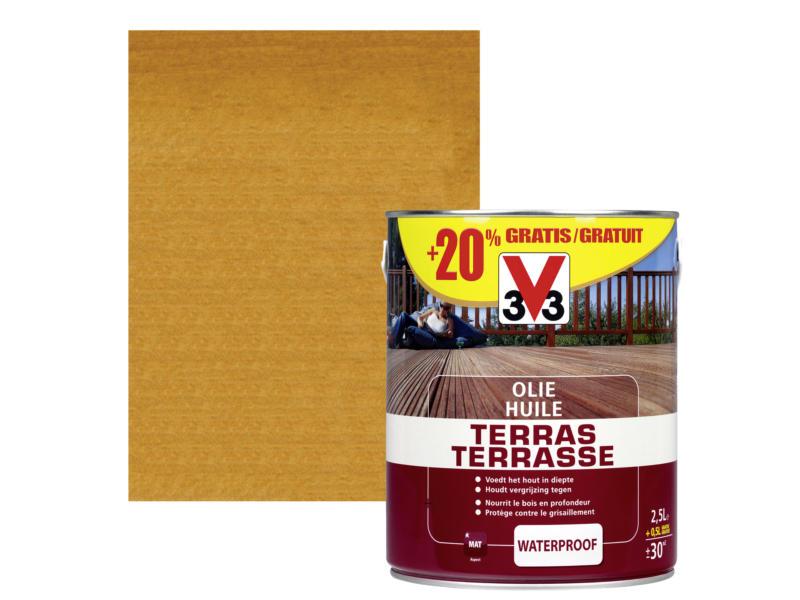 V33 huile terrasse 2,5l+20% bangkirai