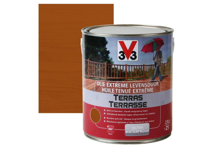 V33 huile terrasse tenue extrème mat 2,5l bangkirai