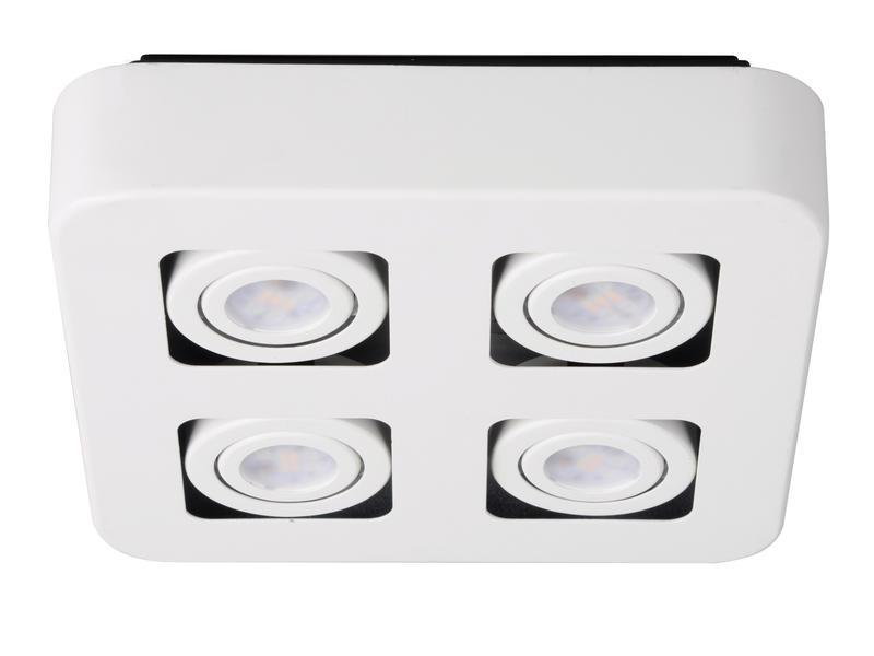 Jedi iDual Krypton LED spot met afstandsbediening 4x6,4W wit