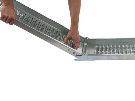Practo Tools inklapbare oprijplaat 190cm gegalvaniseerd staal
