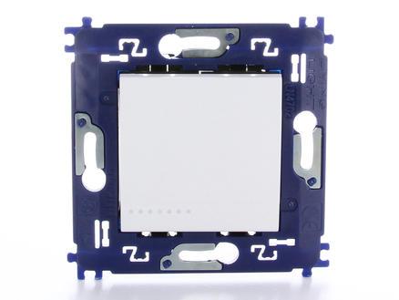interrupteur unipolaire simple avec vis blanc
