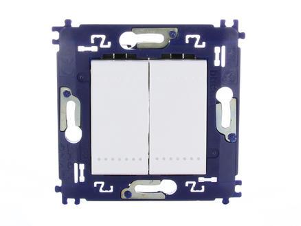 Bticino interrupteur va-et-vient LivingLight avec bouton poussoir et fixation à vis blanc