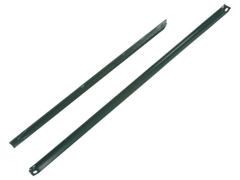 Giardino jambe de force en L 120x2,5 cm vert
