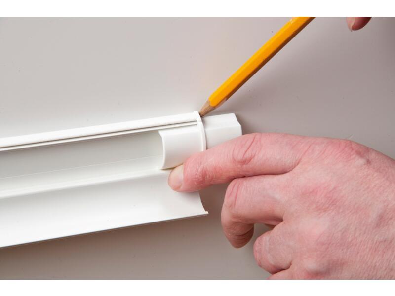 kit adaptateur pour goulotte 20x10 mm blanc 10 pièces