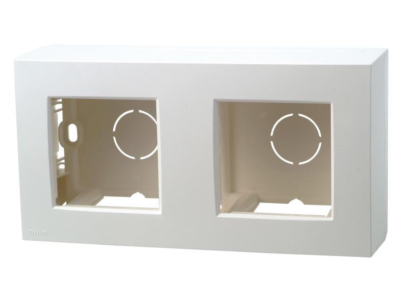 Niko kit pour montage en saillie boîte double blanc