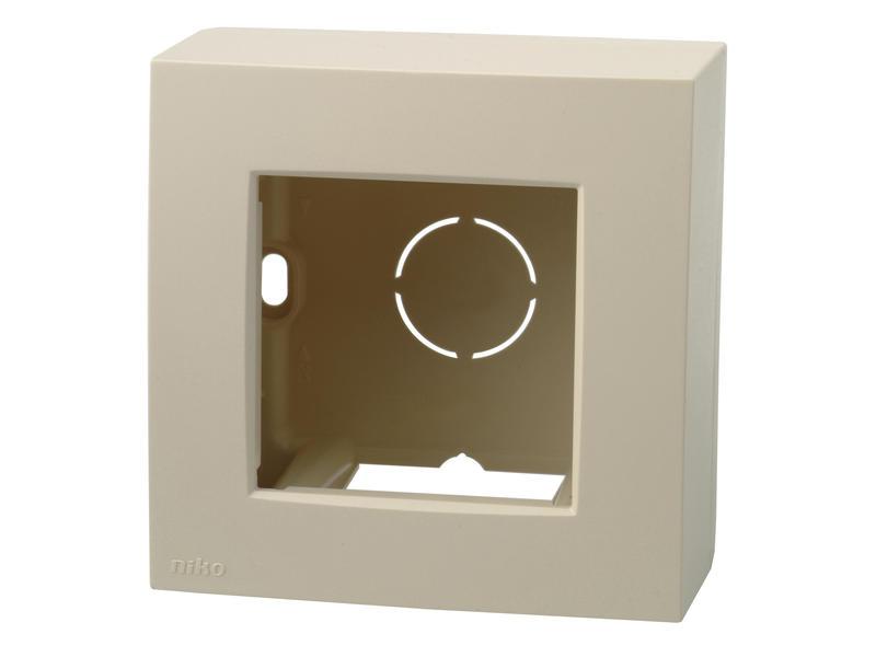 Niko kit pour montage en saillie boîte simple crème