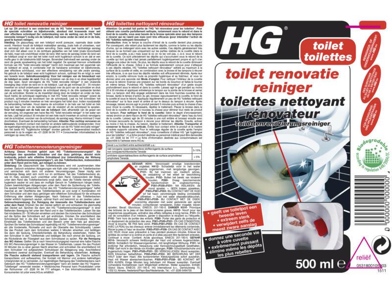 HG kit rénovateur toilettes 500ml