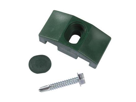 Giardino klem vierkante paal 10 stuks groen
