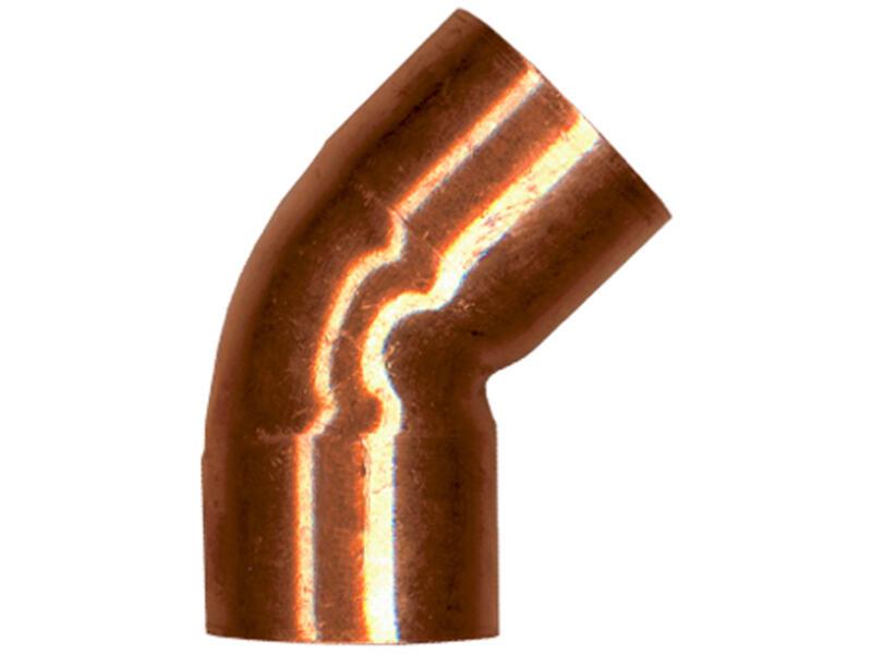 Saninstal knie 45° FF 15mm koper