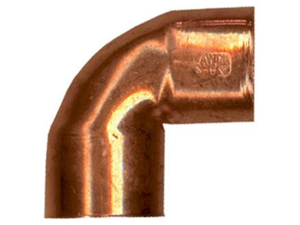 Saninstal knie 90° FF 12mm koper