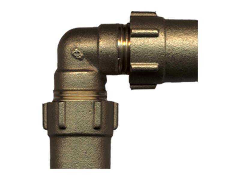 Saninstal knie klemkoppeling 20x20 mm gas