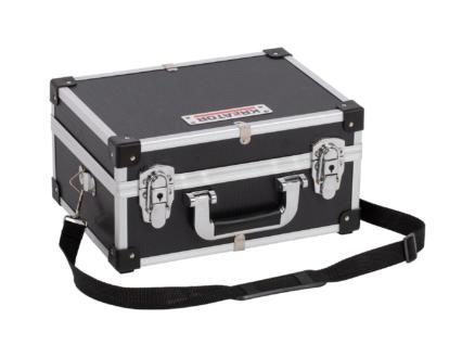Kreator koffer 32x23x16 cm aluminium zwart