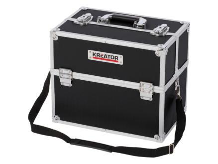 Kreator koffer 36x23x30 cm aluminium zwart