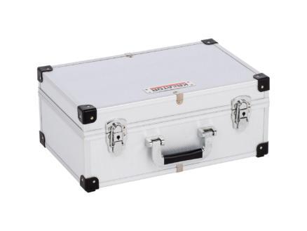 Kreator koffer 42x26,5x17,3 cm aluminium zilver