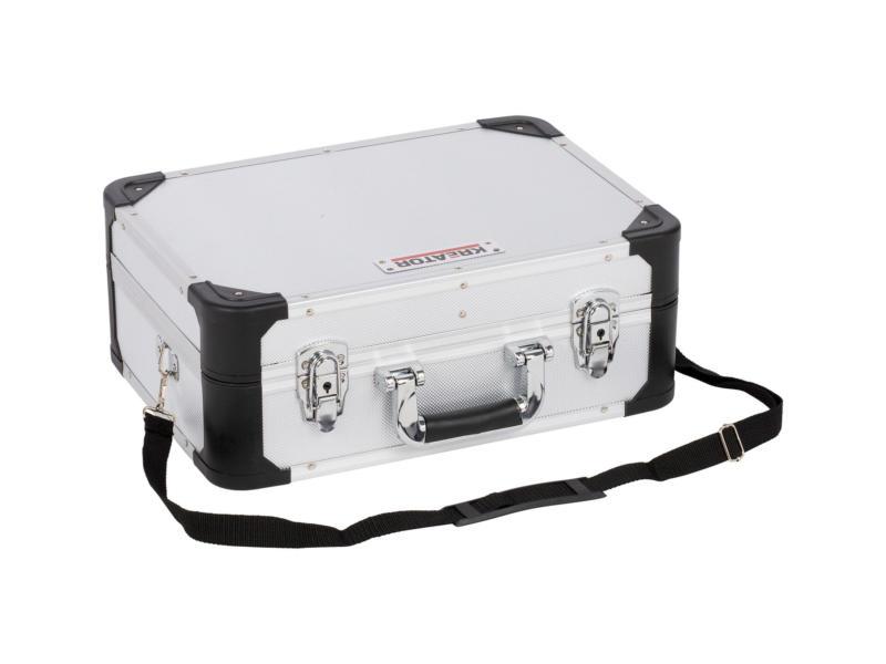 Kreator koffer 43,3x31,3x16,3 cm aluminium zilver