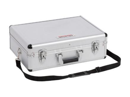 Kreator koffer 46x33x15,5 cm aluminium zilver