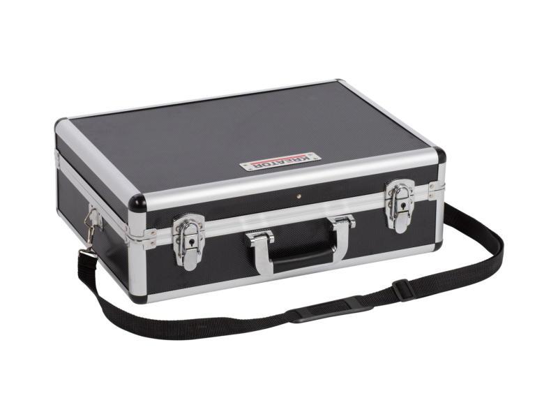 Kreator koffer 46x33x15,5 cm aluminium zwart