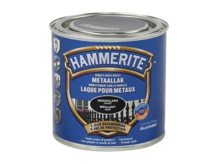 Hammerite lak hoogglans 0,25l zwart