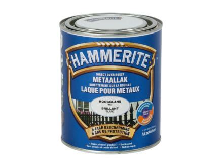 Hammerite lak hoogglans 0,75l wit