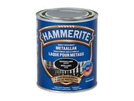Hammerite lak hoogglans 0,75l zwart