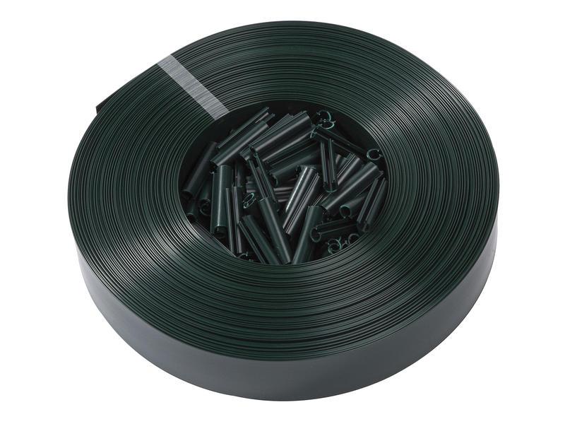 Giardino lanière avec clips 60m 5cm vert