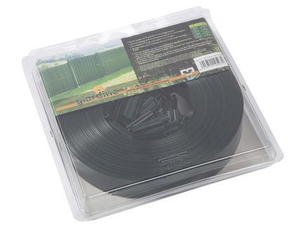 Giardino lanière avec clips 60m noir