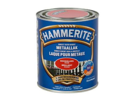 Hammerite laque brillant 0,75l rouge