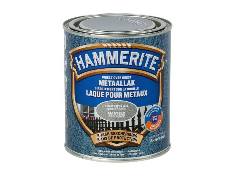 Hammerite laque martelée 0,75l gris foncé