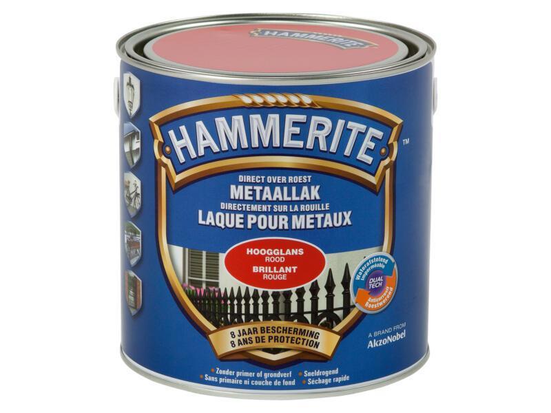 Hammerite laque peinture métal brillant 2,5l rouge