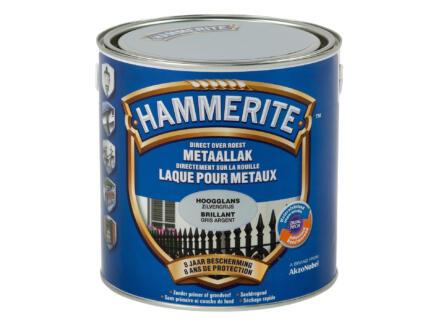 Hammerite laque peinture métal brillante 2,5l gris argent