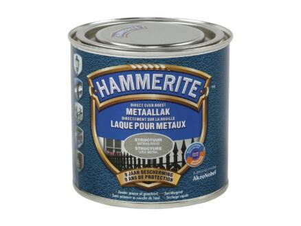Hammerite laque peinture métal structure 0,25l gris métal