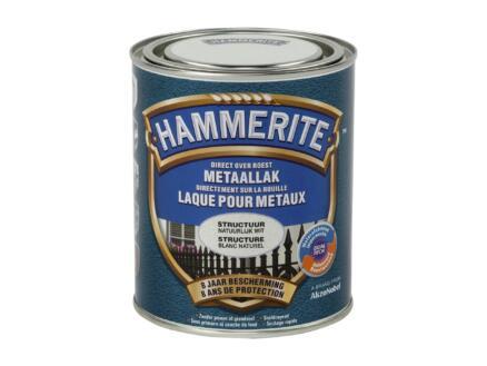 Hammerite laque peinture métal structure 0,75l blanc naturel