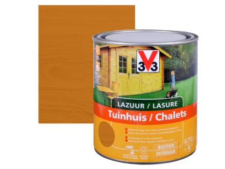 V33 lasure bois chalet satin 0,75l chêne clair