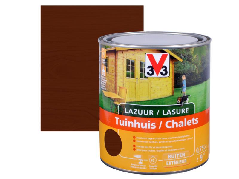V33 lasure bois chalet satin 0,75l chêne foncé