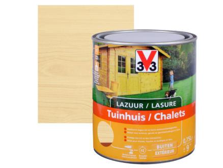 V33 lasure bois chalet satin 0,75l incolore
