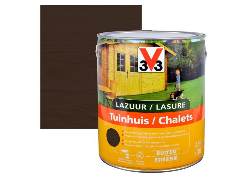 V33 lasure bois chalet satin 2,5l ébène