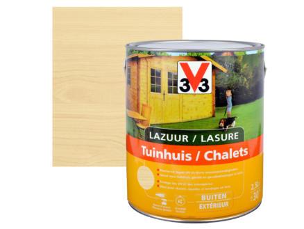 V33 lasure bois chalet satin 2,5l incolore