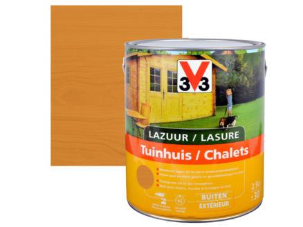 V33 lasure bois chalet satin 2,5l meranti