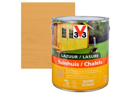 V33 lasure bois chalet satin 2,5l pin scandinave