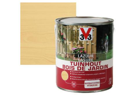 V33 lasure bois de jardin mat 2,5l incolore
