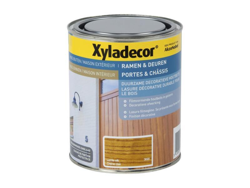 Xyladecor lasure portes & châssis 0,75l chêne clair