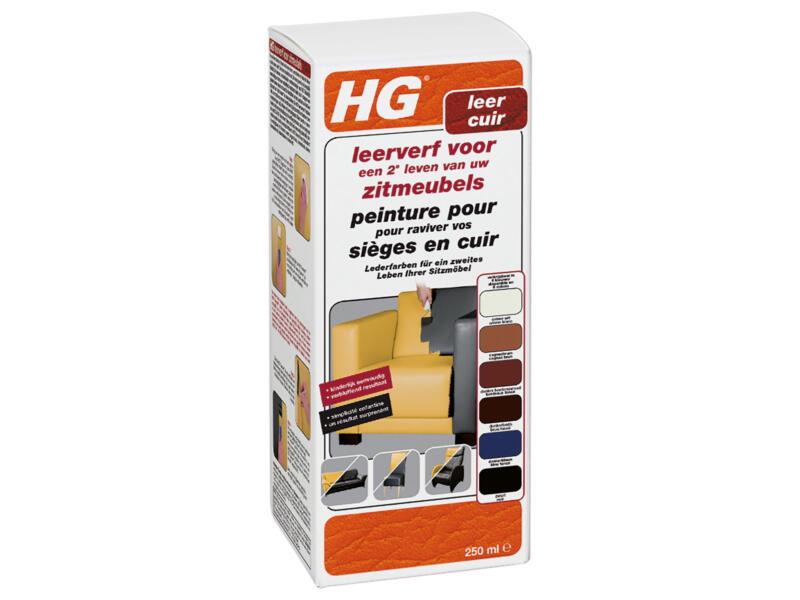 HG leerverfkit zitmeubel 250ml zwart