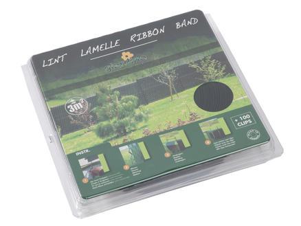 Giardino lint met clips 60m 5,5cm groen